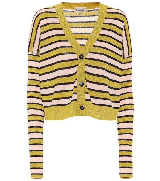 Baum und Pferdgarten Cookie striped cardigan in yellow