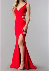 dress,red dress,elegant,prom dress