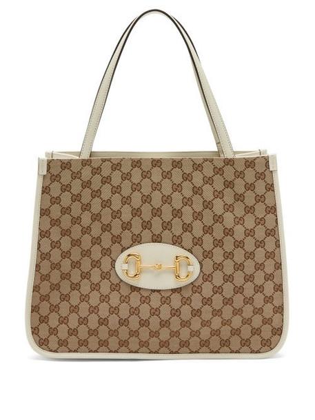 Gucci - 1955 Horsebit Gg Supreme Canvas Tote Bag - Womens - White Multi