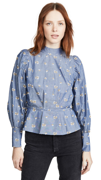 custommade Augusta Blouse in blue
