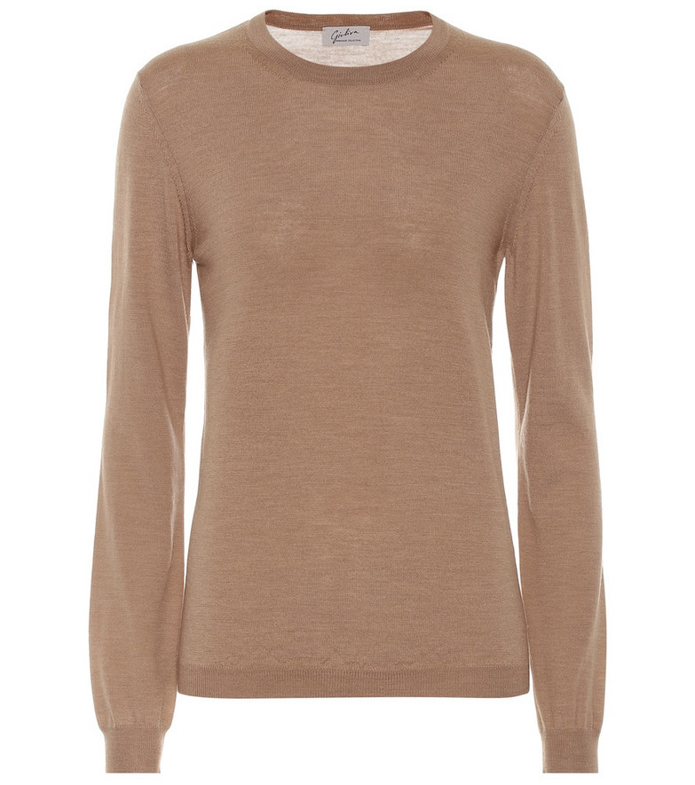 Giuliva Heritage Collection Esthia wool sweater in brown