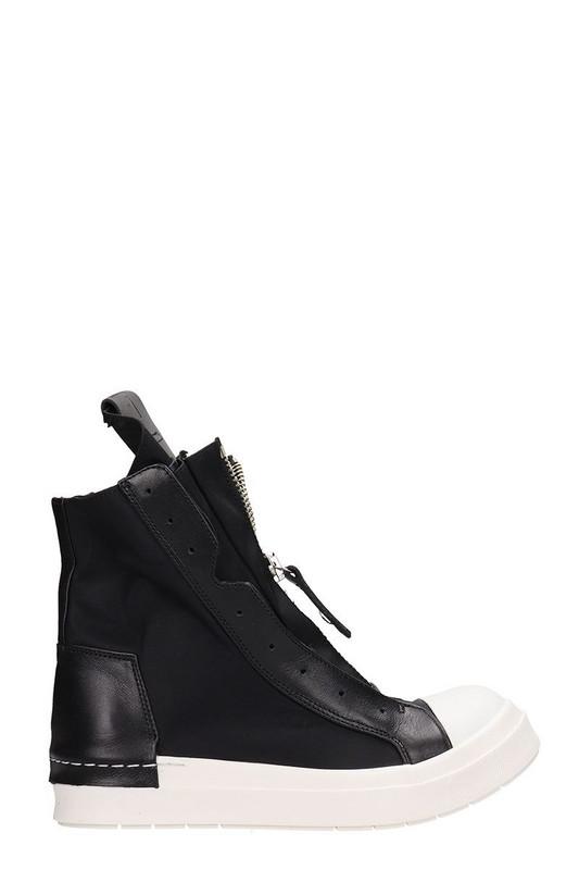 Cinzia Araia Zipped Hi-top Sneakers in black