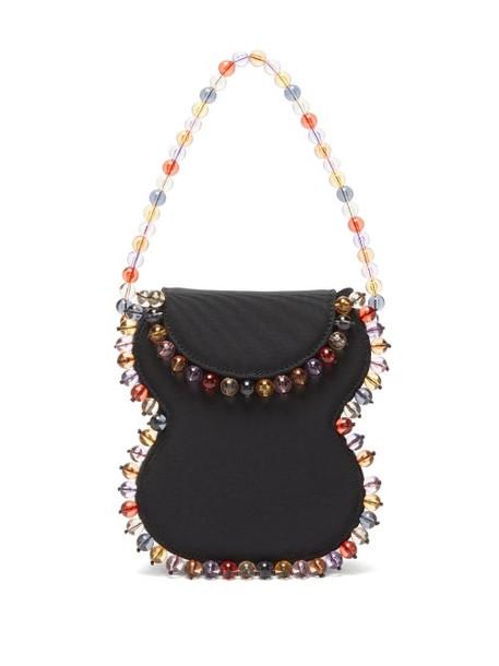 By Far - Frida Beaded Grosgrain Handbag - Womens - Black Multi