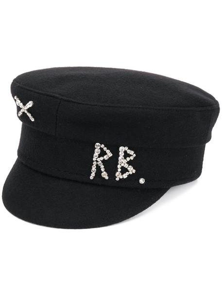 Ruslan Baginskiy logo baker boy hat in black