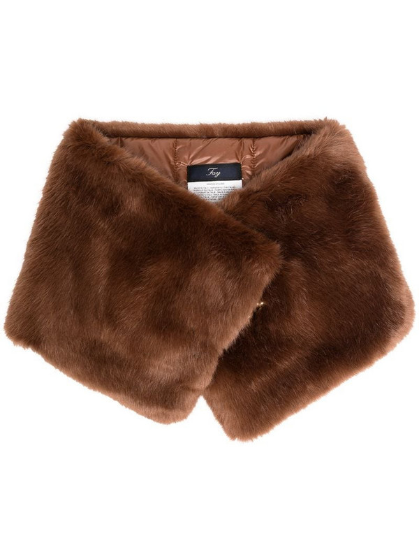 Fay faux fur scarf in brown