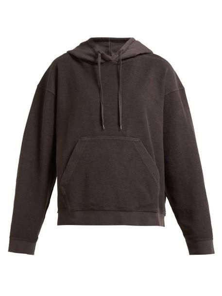 Acne Studios - Loop Back Cotton Hooded Sweatshirt - Womens - Dark Grey