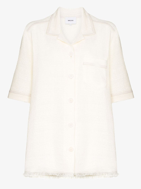 Nanushka Ella oversized shirt in white