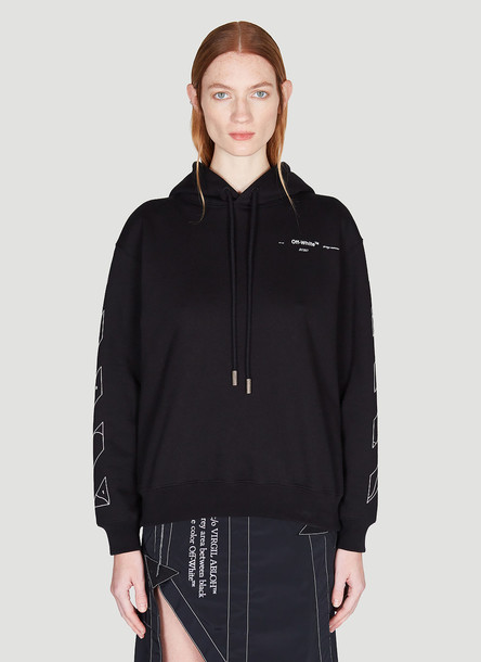 Off-White Puzzle Arrow Hooded Sweatshirt in Black size L