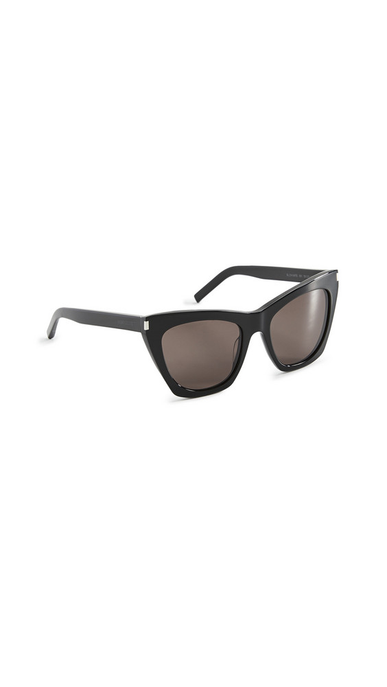 Saint Laurent Kate Cat Eye Sunglasses in black / grey