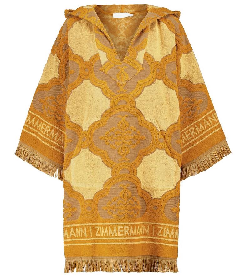 Zimmermann Aliane cotton terry dress in yellow