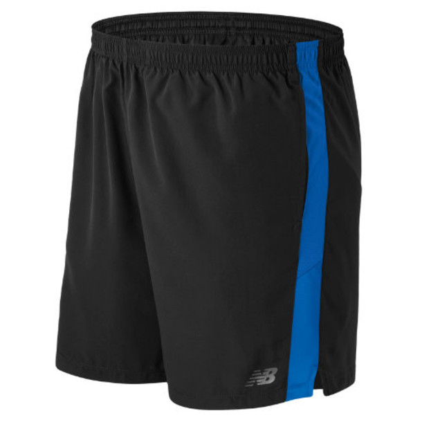 New Balance 53070 Men's Accelerate 7 Inch Short - Blue/Black (MS53070ELB)