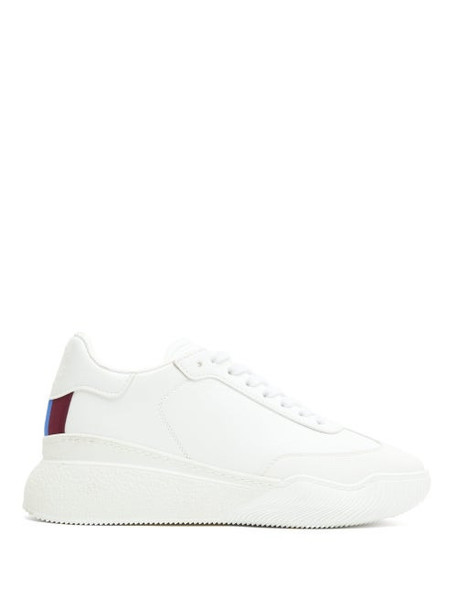 Stella Mccartney - Loop Faux-leather Trainers - Womens - White