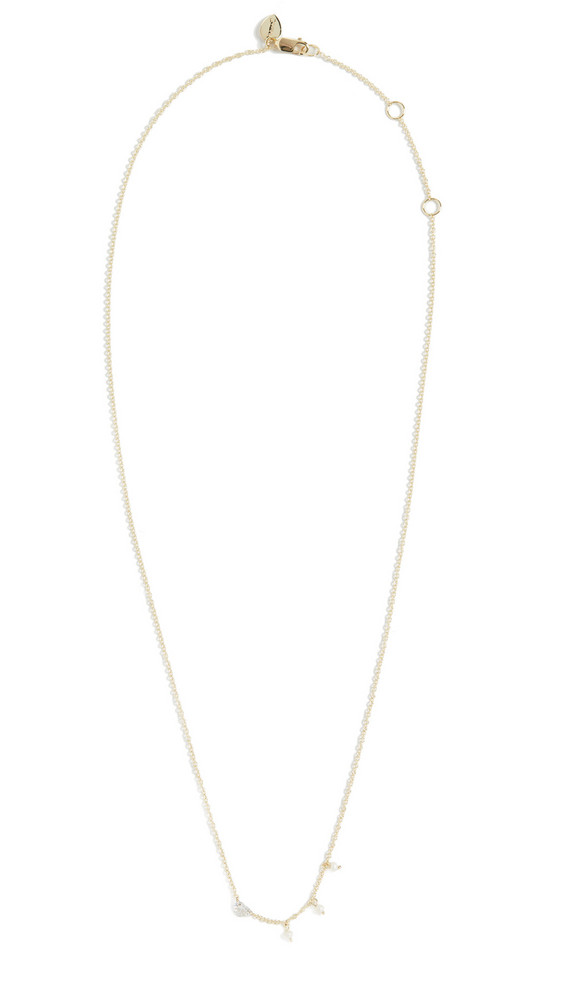 Meira T 14k Diamond Heart Necklace in gold / yellow