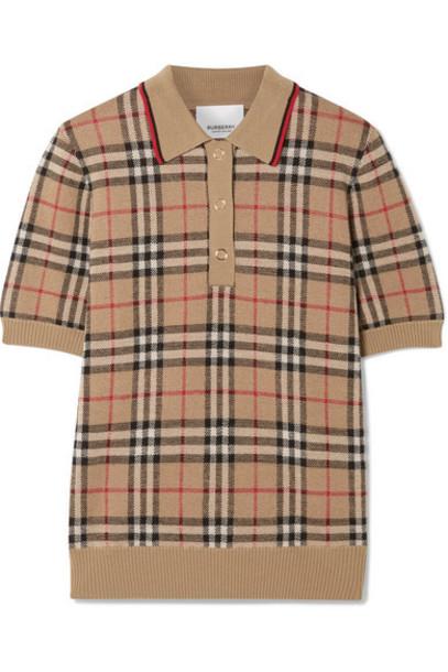 Burberry - Checked Merino Wool Sweater - Beige