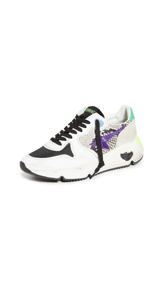 Golden Goose Running Sole Sneakers in natural / violet