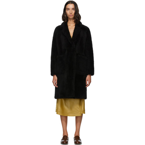 Yves Salomon - Meteo Black Teddy Coat