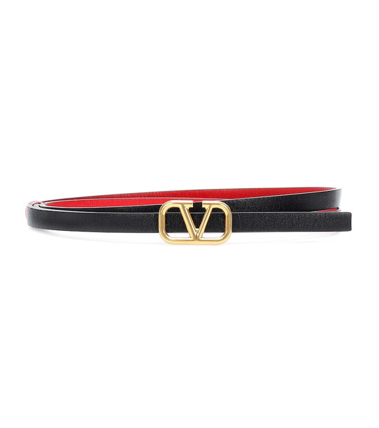 Valentino Garavani VLOGO reversible leather belt in black