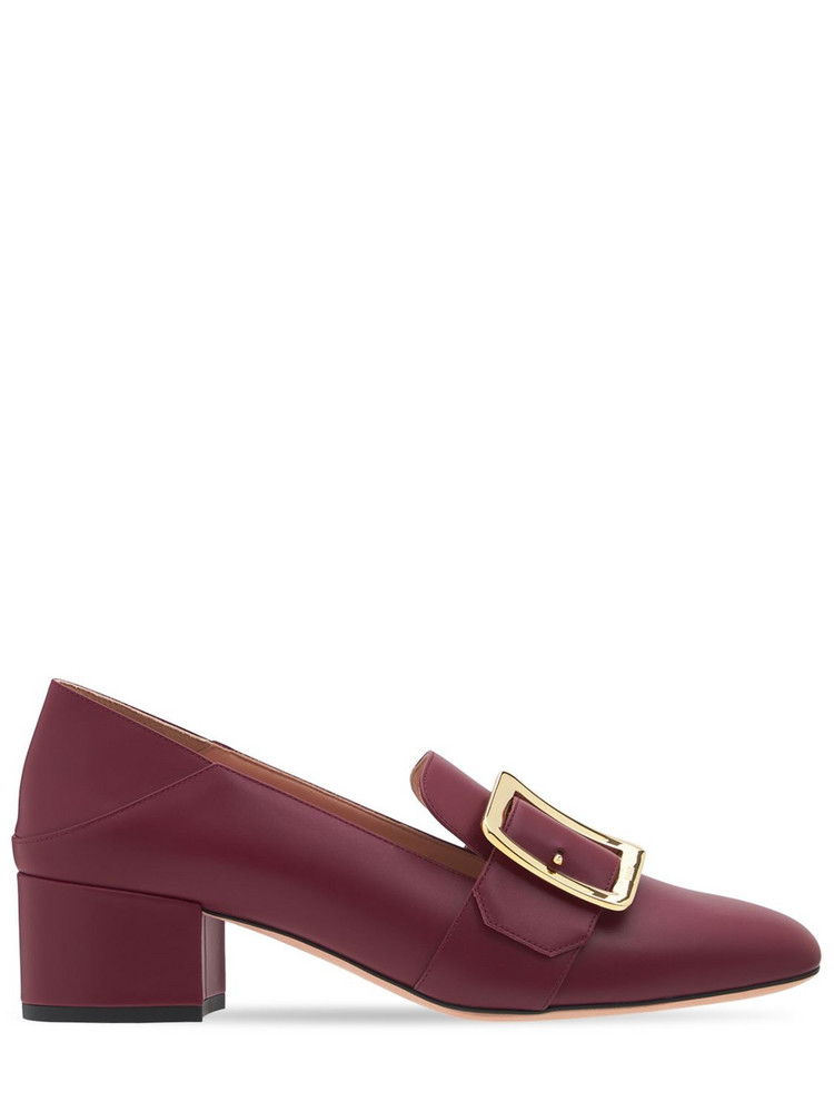 BALLY 40mm Janelle Leather Pumps in red