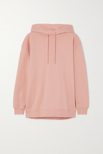 Ninety Percent - Net Sustain Laura Organic Cotton-jersey Hoodie - Pink