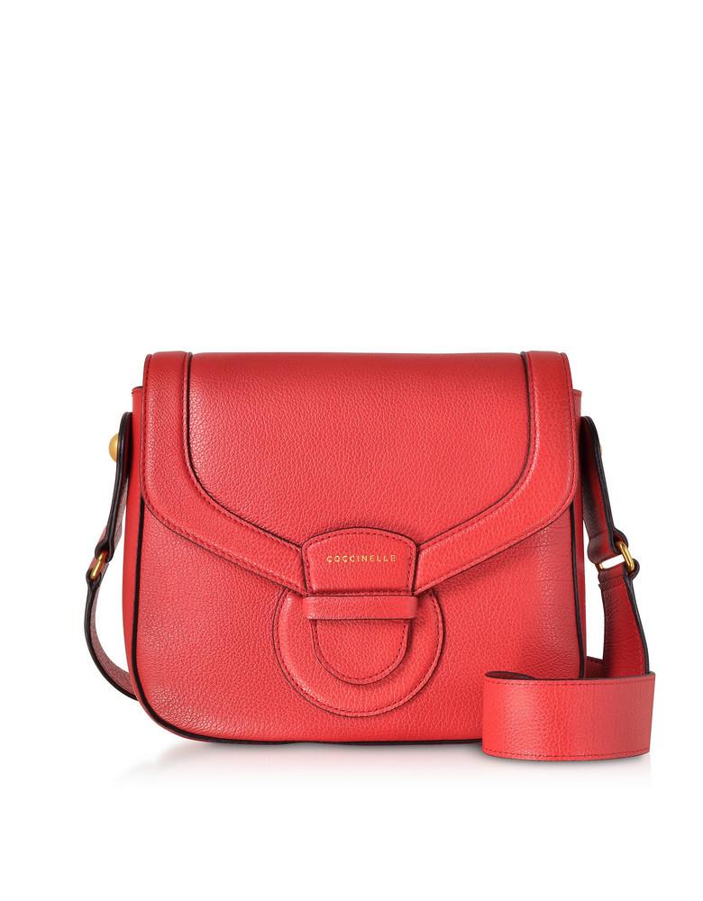 Coccinelle Vega Medium Leather Shoulder Bag in red