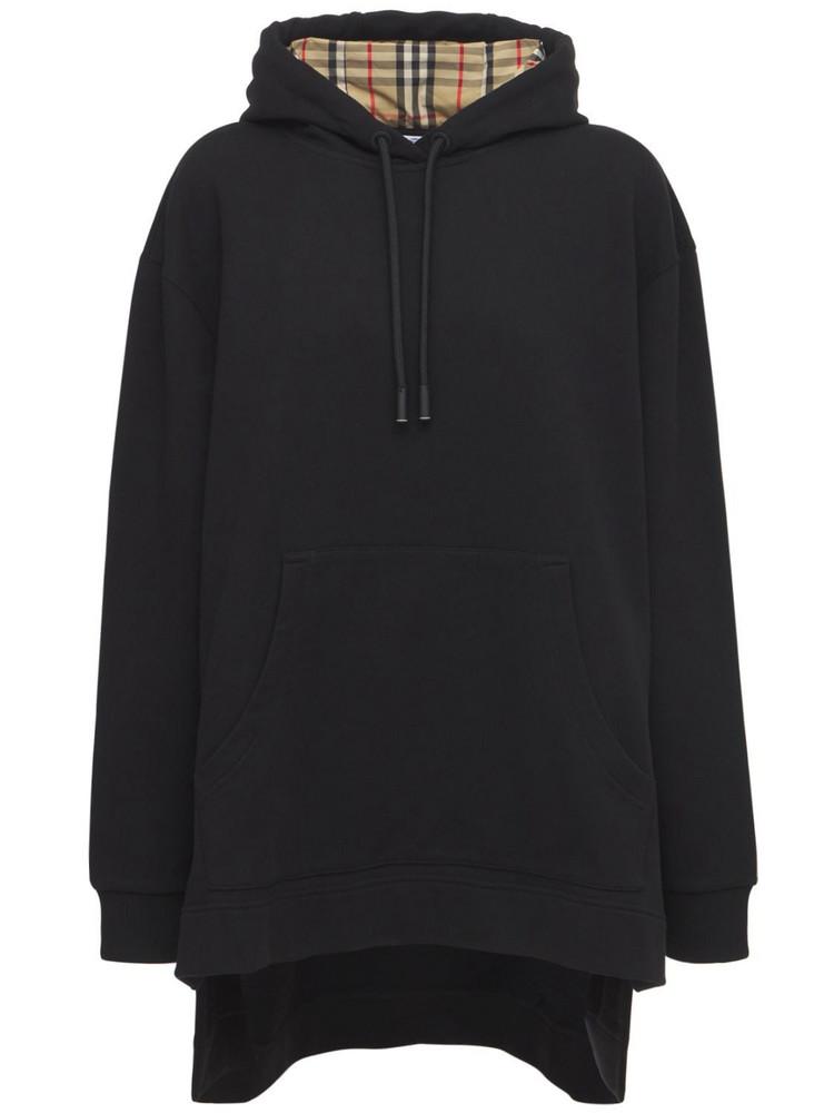 BURBERRY Aurore Cotton Jersey Sweatshirt Hoodie in black