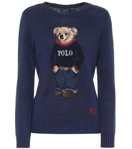 Polo Ralph Lauren Cotton-blend knit sweater in blue