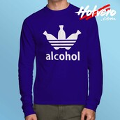 top,adidas shirt,adidas parody,long sleeve shirt,funny shirts
