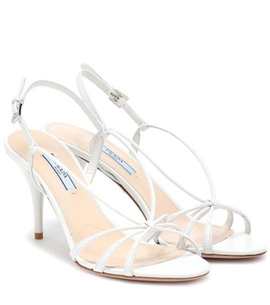 Prada Leather sandals in white