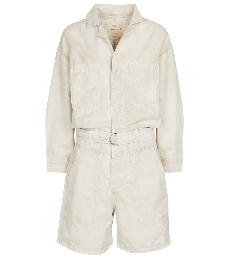 Citizens of Humanity Willa cotton and linen playsuit in white
