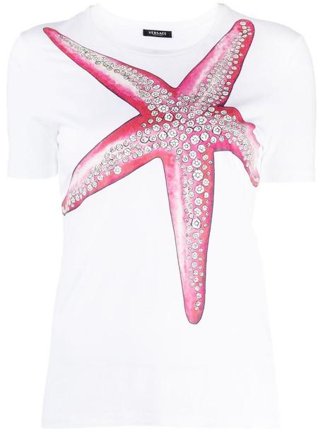 Versace starfish print T-shirt - White
