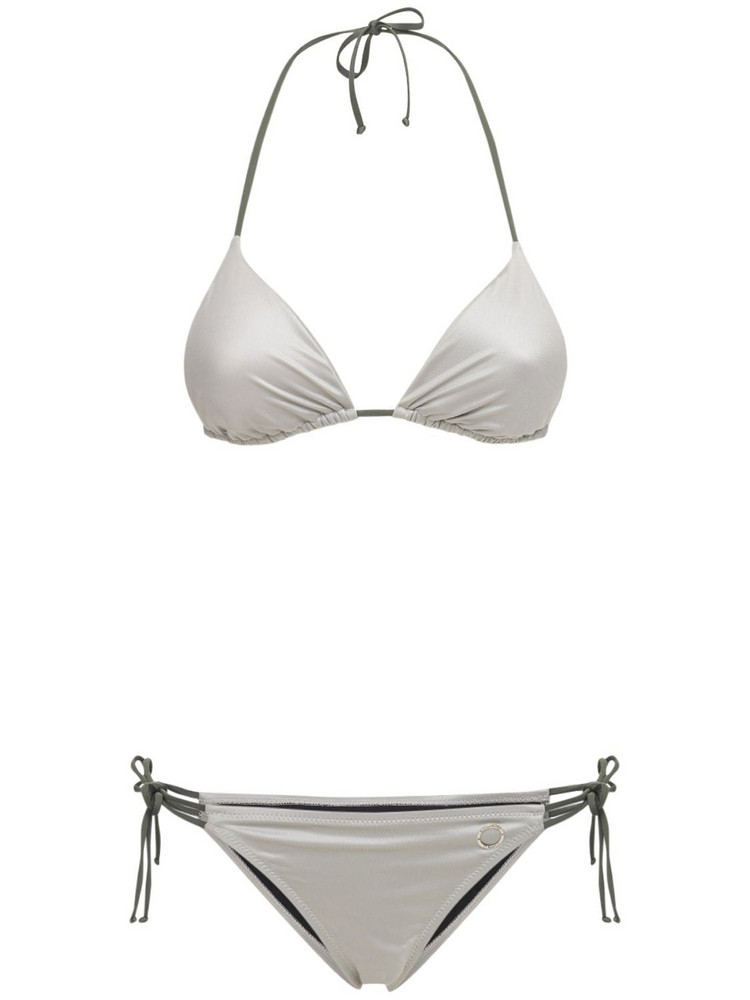 ALESSANDRO DI MARCO Double String Triangle Bikini in silver