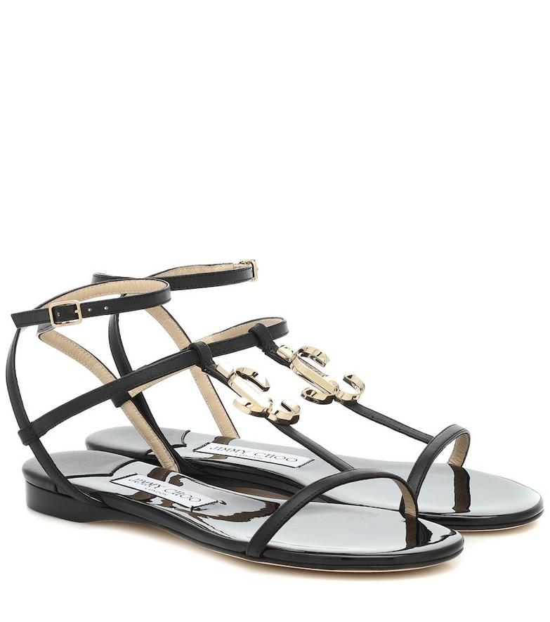 Jimmy Choo Alodie leather sandals in black