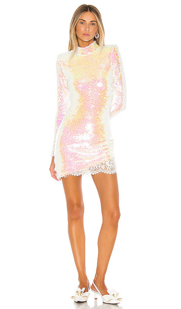 Amanda Uprichard x REVOLVE Devyn Sequin Mini Dress in White