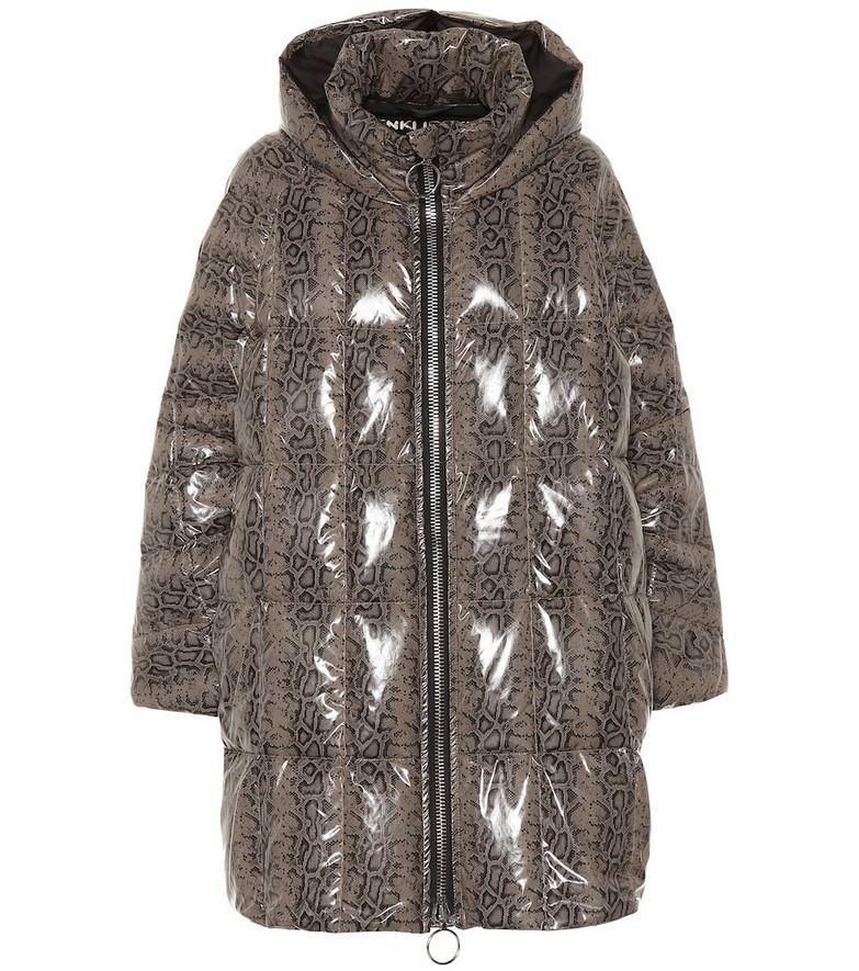 Ienki Ienki Snake-effect coat in grey
