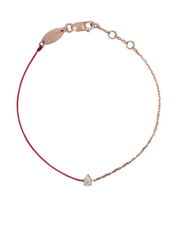 Redline 18kt yellow gold Altesse diamond silk cord bracelet