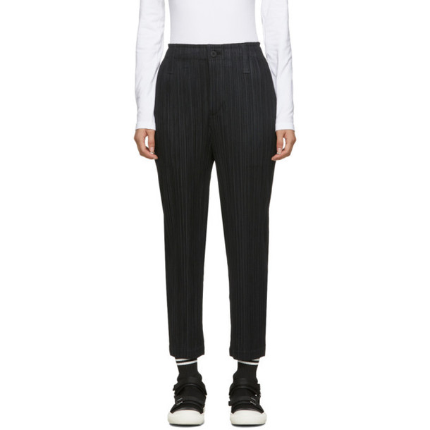 Pleats Please Issey Miyake Black Thicker Bottoms Trousers