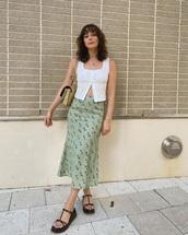 dress,skirt,green,print,cute,elegant