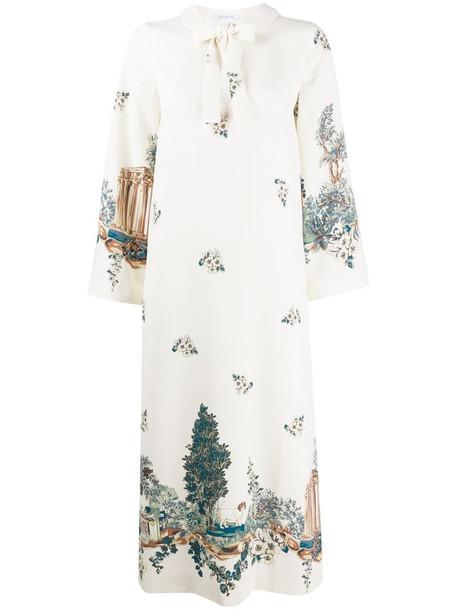 Vivetta landscape-print midi dress in neutrals