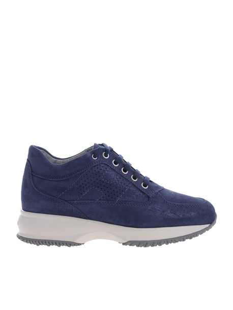Hogan Interactive Perforated H Logo Sneakers in blue