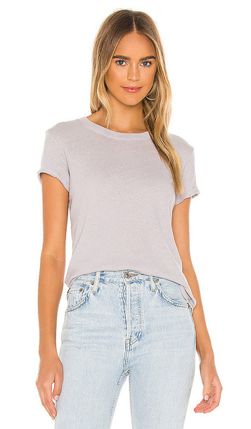 Enza Costa Recycled Jersey Perfect Tee in Grey