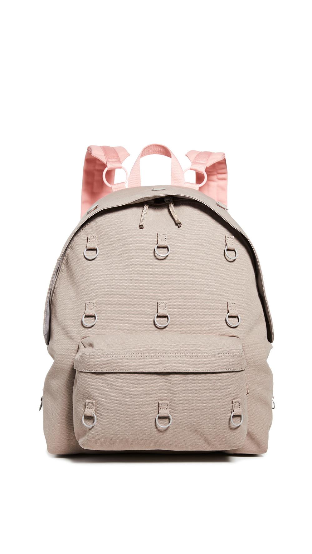 Eastpak RS Padded Loop Backpack in grey / pink