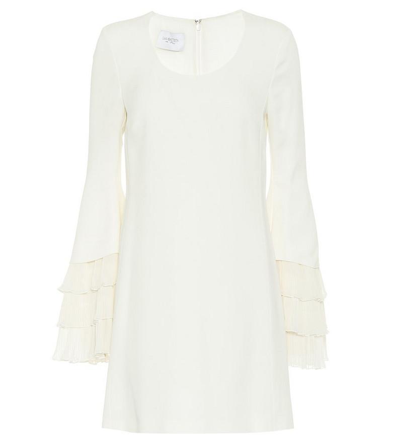 Giambattista Valli Ruffle-trimmed cady minidress in white