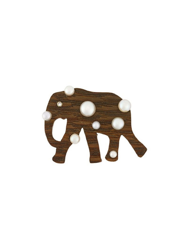 Marc Alary elephant pendant in brown