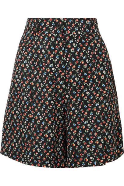 shorts floral print black