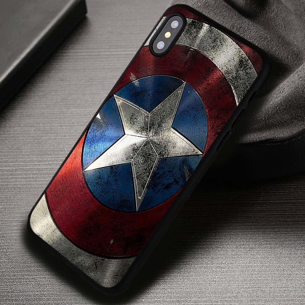 Captain America Shield - iPhone X 8  7 6s SE Cases & Covers
