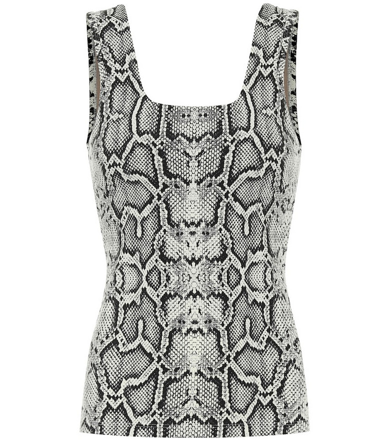 Varley Aletta snake-print tank top in black