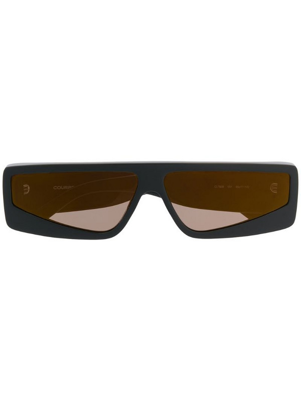 Courrèges Eyewear square-frame tinted sunglasses in black