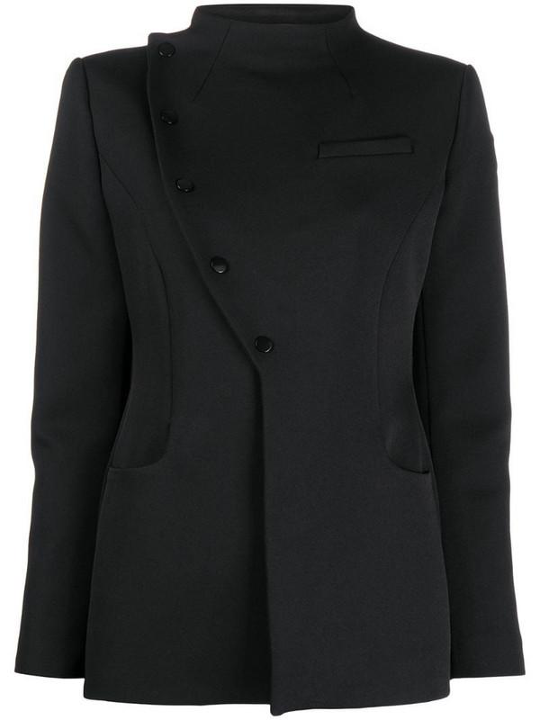 Coperni high neck tailored jacket in black