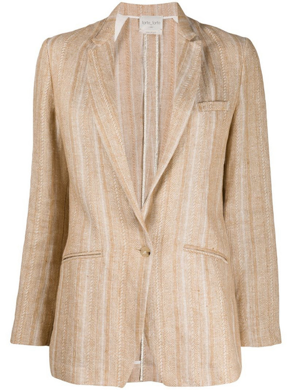 Forte Forte striped single-breasted blazer in neutrals