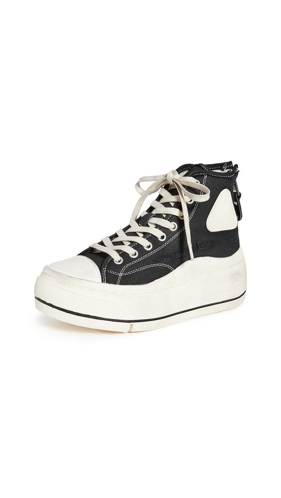 R13 High Top Sneakers in black